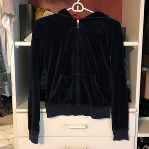 Navy Juicy Couture Velour Jacket